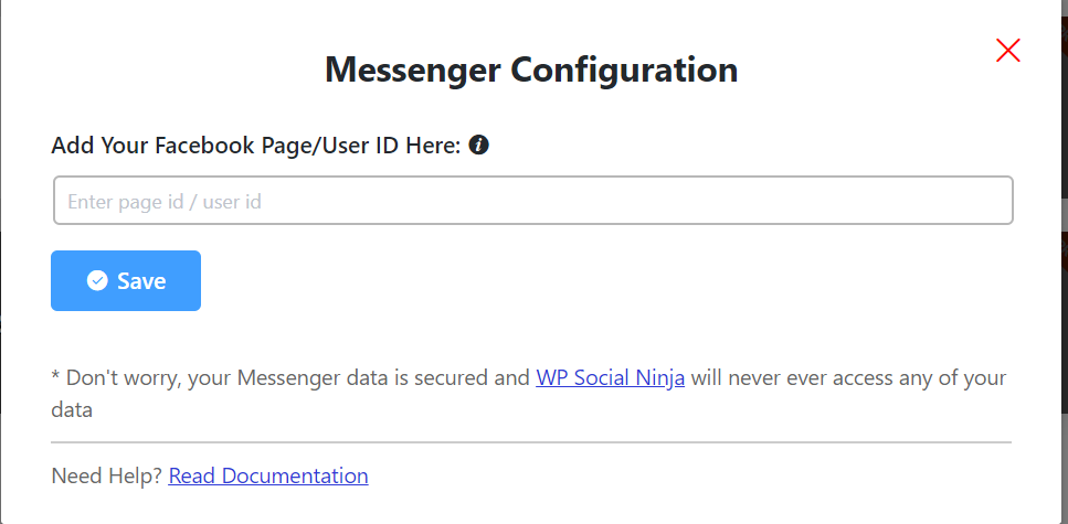 messenger configuration
