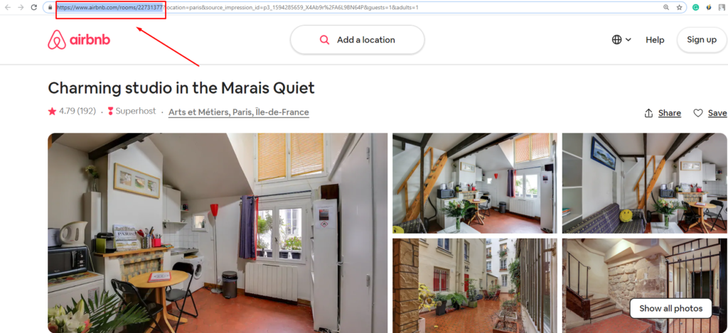 airbnb configuration for rooms