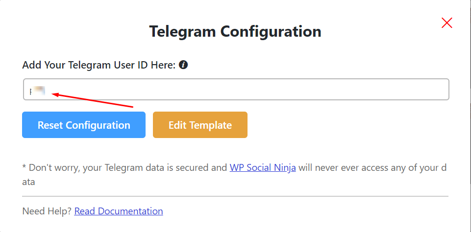 telegram configuration
