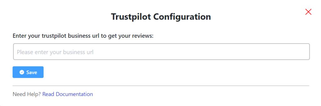 Trustpilot configuration