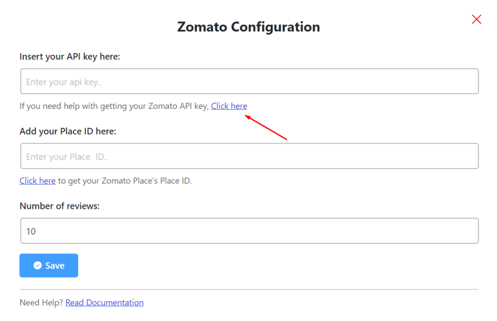 zomato reviews zomato api key