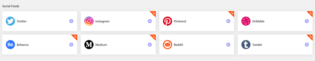 all platforms of social feeds