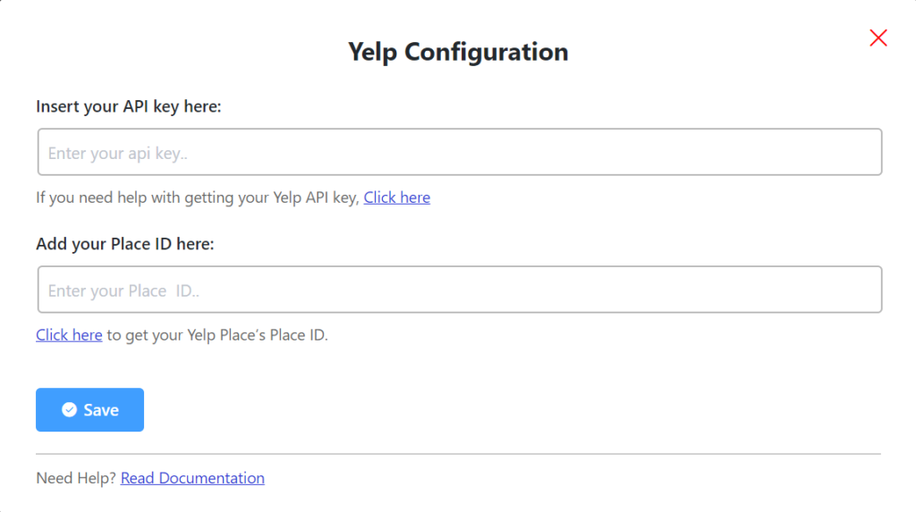 yelp configuration