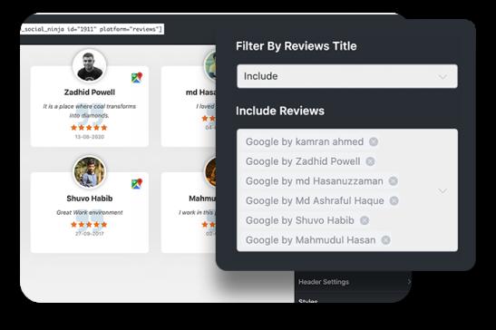 WP Social Ninja social reviews title