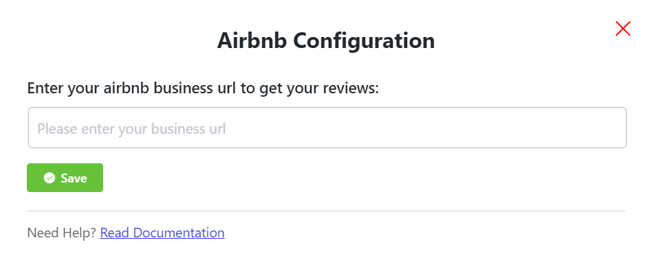 Airbnb reviews configuration