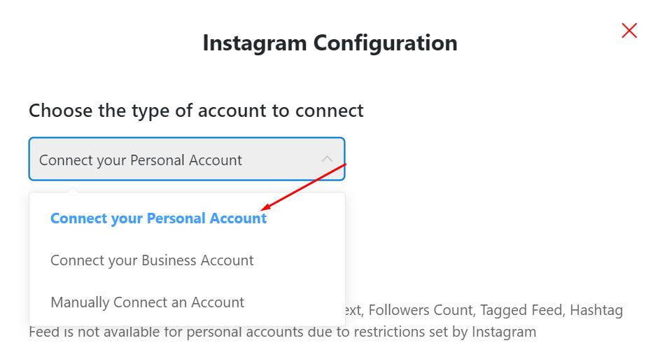 Instagram feeds configuration