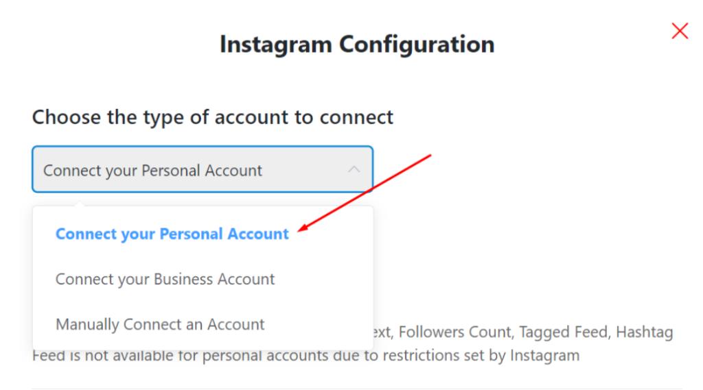 Instagram personal account social media feeds