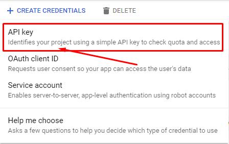 YouTube feed API Key