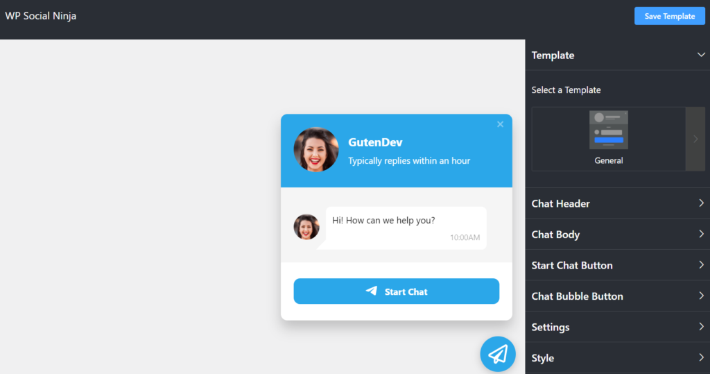 WP Social Ninja WordPress dashboard