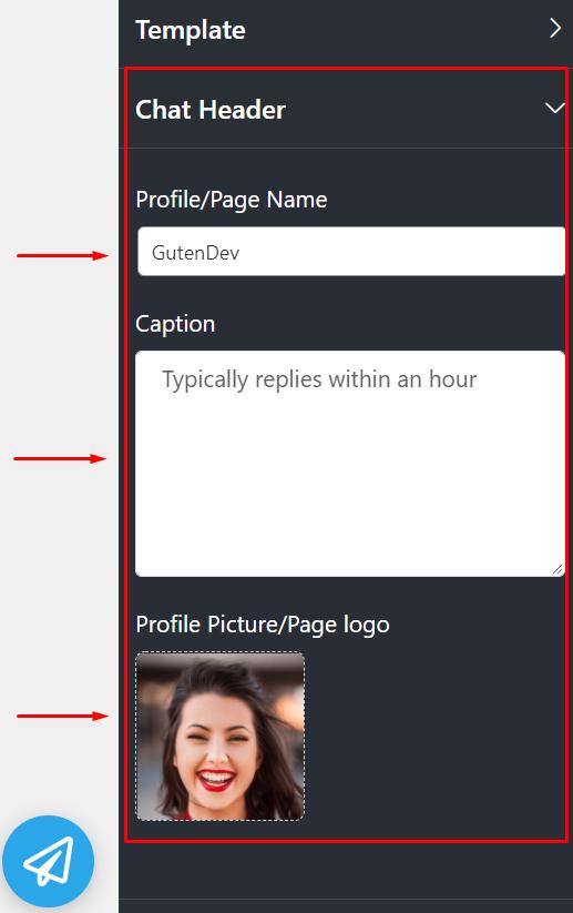 Live chat header