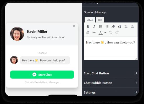 Messenger chat customization