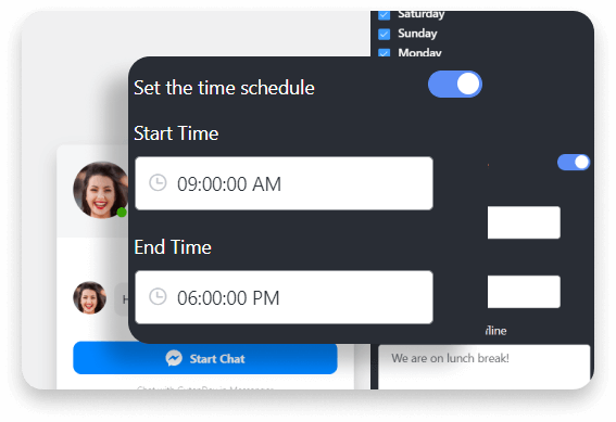 Messenger chat schedule time
