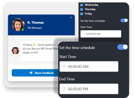 Telegram chat schedule time