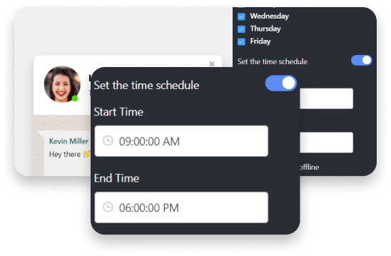 WhatsApp chat schedule time