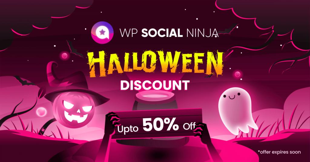 WP Social Ninja Halloween Deal- WordPress discount