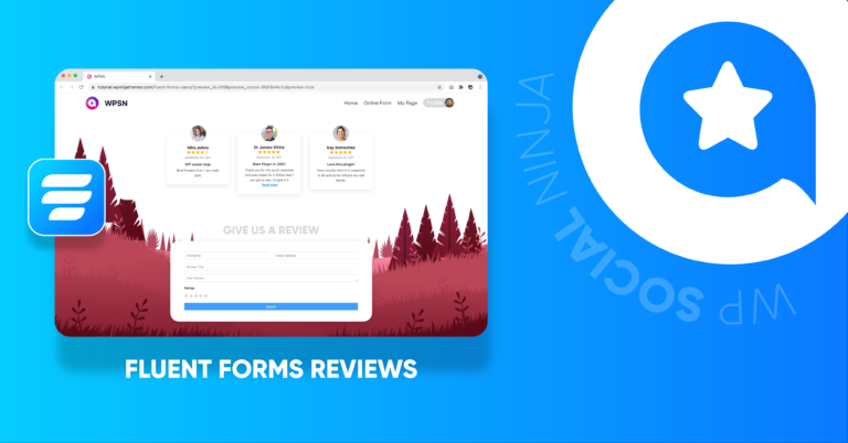 How to add reviews with Fluent Forms on your website with WP Social Ninja
